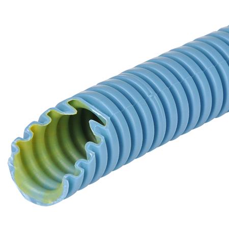 Wellrohr / Leerrohr flexibel 750 N betonfestes Kabelschutzrohr blau M25, 10 m