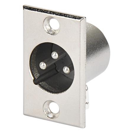 XLR Mikrofon Einbaustecker 3-polig
