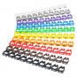 Kabelmarkierung Kabelmarker Clips 0-9 farbig 100-teilig