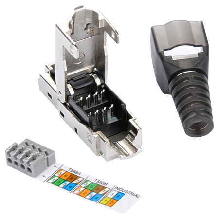 netzwerk set diy 5 port switch 2 netzwerkstecker cat 7 kabel. Black Bedroom Furniture Sets. Home Design Ideas