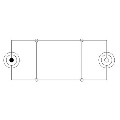 Audio Adapterkabel 3,5/6,35 mm Stereo