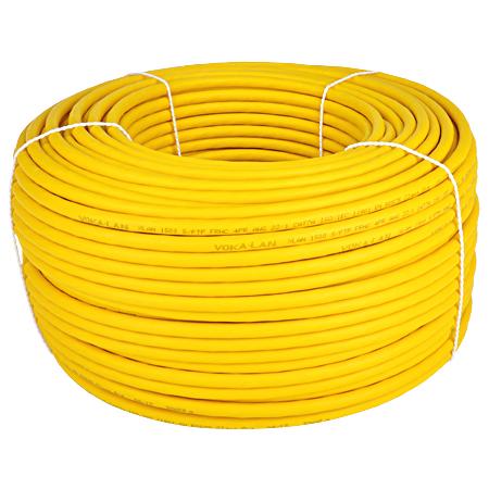 Cat.7a Netzwerkkabel Verlegekabel 1500 MHz S/FTP PIMF gelb 50 m Ring