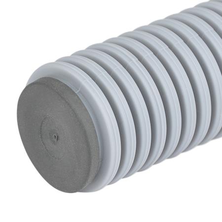 Dichtstopfen für Wellrohre, Verschlussstück mit Durchstoßmembran