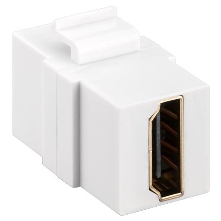 HDMI Keystone Modul Doppel-Buchse weiß