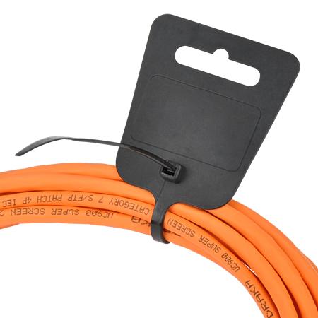 Kabelbinder mit Euroloch und Beschriftungsfeld schwarz