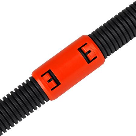 Krallenmuffe für flexible Rohre orange