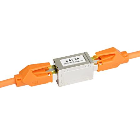LAN Kabel RJ45 Verbinder Doppelkupplung Cat.6a
