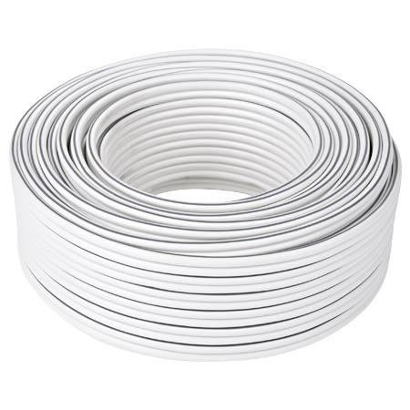 Lautsprecherkabel 2x0,75 mm² CCA weiß 50 m