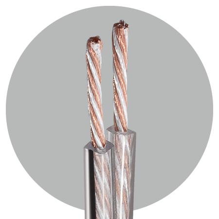 Lautsprecherkabel 2x2,5 mm² OFC/SPC Advanced Meterware