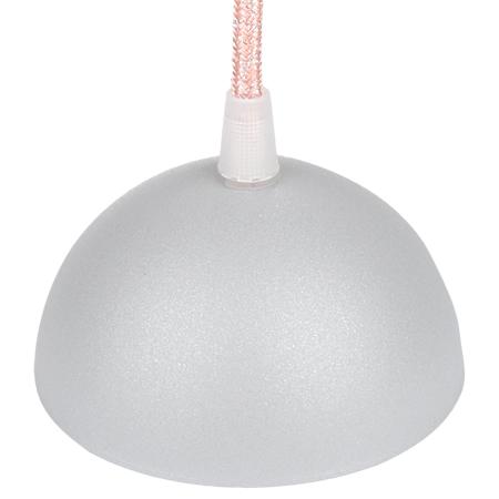 Leuchtenbaldachin halbrund Metall Grau Satin