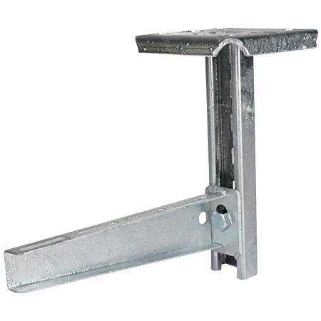 Metall Hängestiel mit C-Profil 41x21 mm für Deckenmontage 400 mm