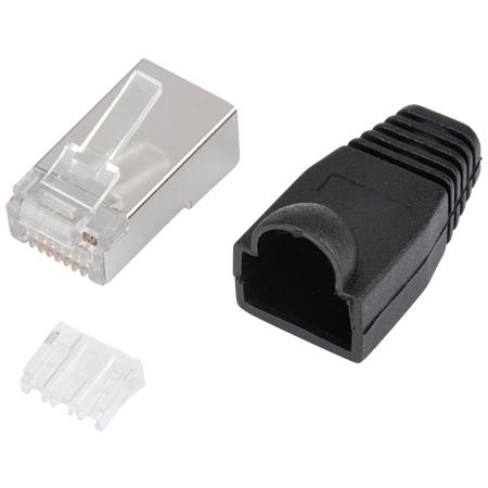 Netzwerkkabel Crimp Set 6 Stecker + Zange