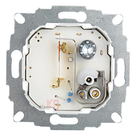 Raumthermostat UP Zentralscheibe 50x50 reinweiß glänzend