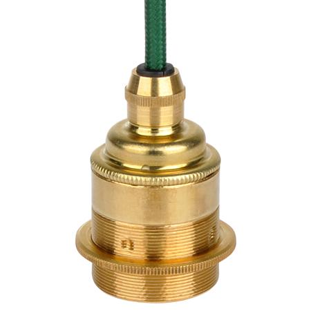 Retro Lampenfassung E27 Metall Gold mit Klemmnippel