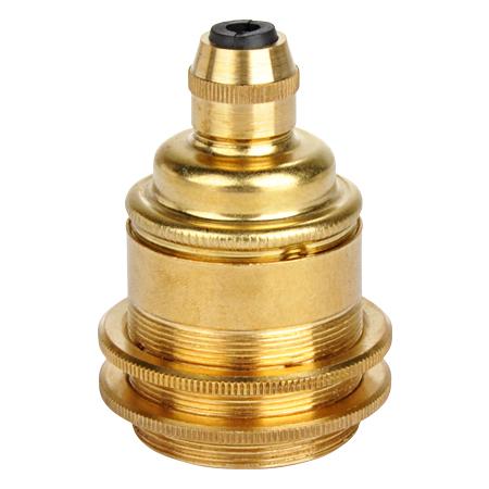 Schraubring Metall Gold für Retro Lampenfassung E27