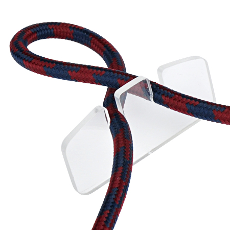 Textilkabel Knoten Halter Acrylglas