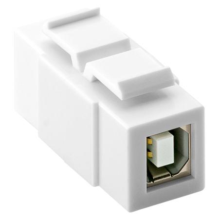 USB 2.0 Keystone Modul B-Buchse B-Buchse
