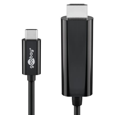 USB-C auf HDMI Stecker Adapterkabel 1,8 m schwarz