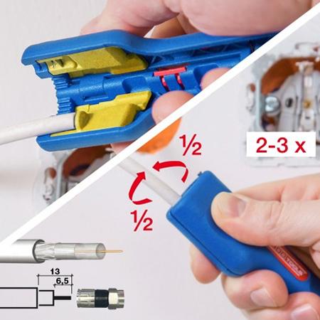 Weicon Coax Stripper No.1 F Plus für Kompression F-Stecker