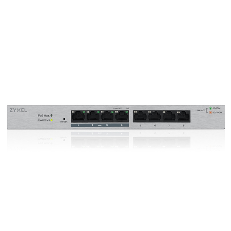 Zyxel 8-Port Gigabit PoE+ Switch