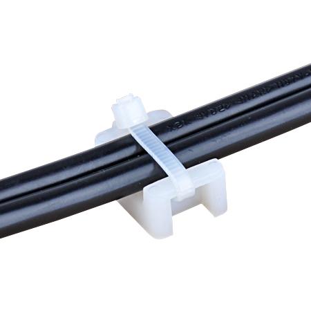 Befestigungssockel mit Sattel für Kabelbinder