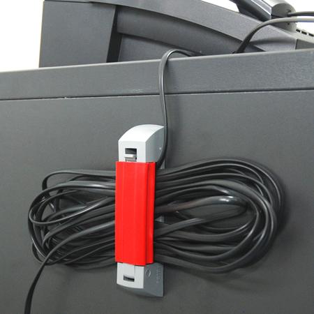 Serpa KabelClip rot mit Klebestreifen