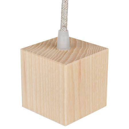 Lampenfassung E27 Holz Würfel mit Klemmnippel