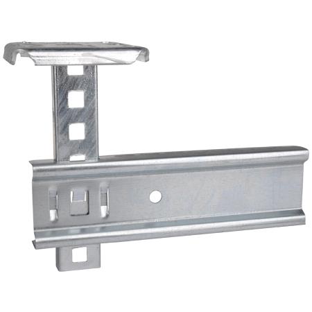 Metall Hängestiel mit C-Profil 41x21 mm für Deckenmontage 300 mm