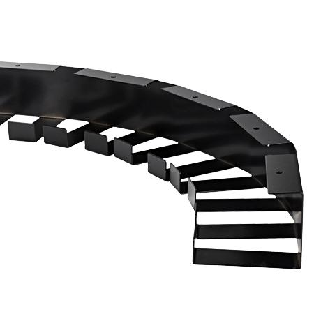 Schreibtisch Kabelwanne Metall 60x80 mm schwarz 1,46 m