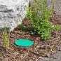Outdoor Bodentank Bodeneinbaudose mit grünem Deckel
