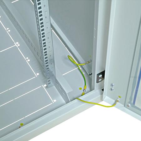 Netzwerkschrank 42 HE 800x800 grau