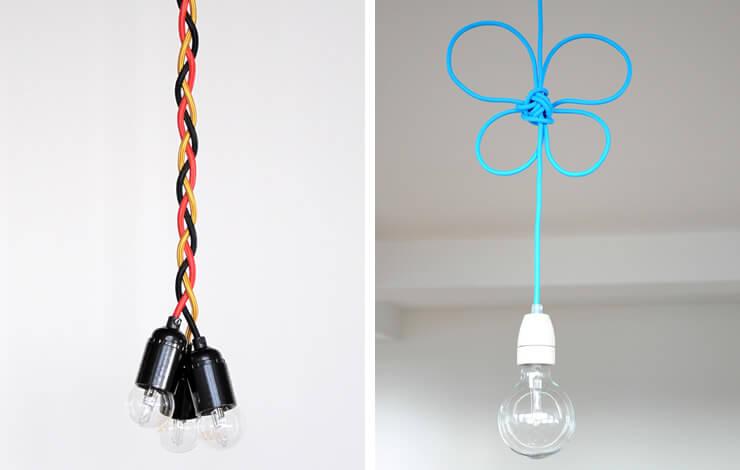 Textilkabel Lampen